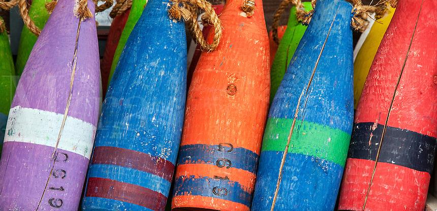 Colorful buoys.
