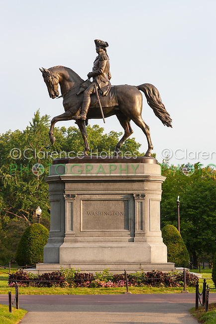 Bronze Statue of George Washington in Boston Public Garden in Boston, Massachusetts