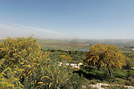 Israel, Shephelah. A view of Ayalon valley and moshav Mevo Horon as seen from Park Canada