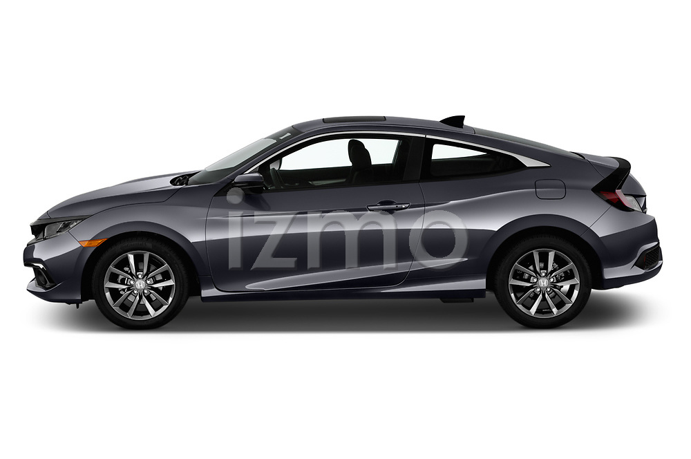 Car Driver side profile view of a 2019 Honda Civic-Coupe EX 2 Door Coupe Side View