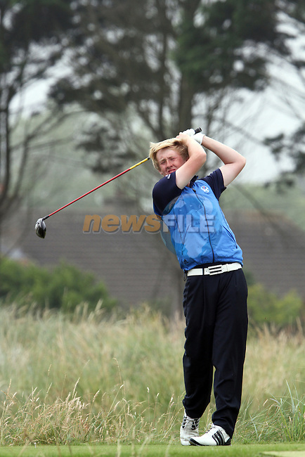 Jamie Savage (SCO) on the 4th on the Final Day at the 2012 Boys Home Internationals at Co.Louth Golf Club in Baltray, Co.Louth...(Photo credit should read Jenny Matthews/NEWSFILE)...