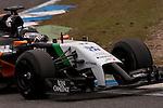 JEREZ. SPAIN. FORMULA 1<br />2013/14 en el Circuito de Jerez 28/101/2014 La imagen muestra Sergio Perez de Sahara Force India LP / Photocall3000
