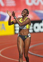Photo: Tony Oudot/Richard Lane Photography..Aviva London Grand Prix. 24/07/2009. .women's 400m B Final. .Donna Fraser waves to the crowd.