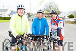 Liam Gowan (Listellick), Robert Stack (Abbeydorney) and Gerry Carmody (Ballyduff) attending the cycle in the Ardfert NS on Sunday morning.