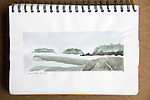 Turet Island, Barkley Soiund, watercolor, Journal Art 2007