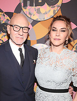05 January 2020 - Beverly Hills, California - Patrick Stewart, Sunny Ozell. 2020 HBO Golden Globe Awards After Party held at Circa 55 Restaurant in the Beverly Hilton Hotel. Photo Credit: FS/AdMedia