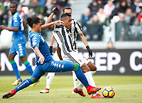 Calcio, Serie A: Juventus - Sassuolo, Torino, Allianz Stadium, 4 Febbraio 2018. <br /> Juventus' Alex Sandro scores during the Italian Serie A football match between Juventus and Sassuolo at Torino's Allianz stadium, February 4, 2018.<br /> UPDATE IMAGES PRESS/Isabella Bonotto