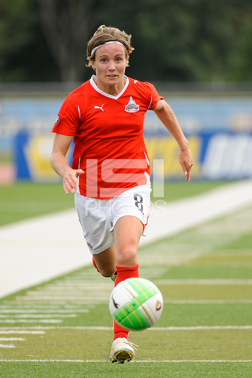 Sonia Bompastor (8) of the Washington Freedom. The Philadelphia Independence defeated the Washington Freedom 1-0 in overtime during the first round of the 2010 Women's Professional Soccer (WPS) playoffs presented by MedImmune at John A. Farrell Stadium in West Chester, PA, on September 19, 2010.