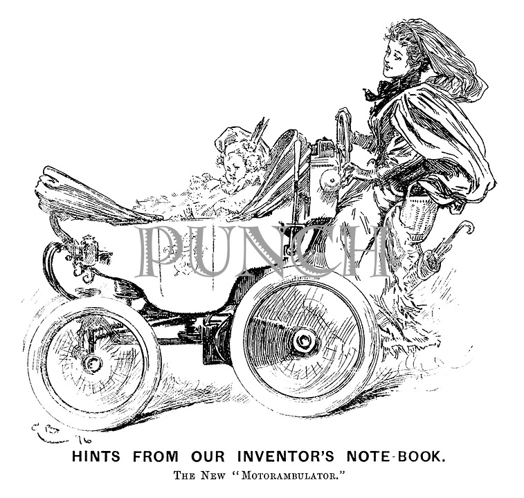 """Hints from Our Inventor's Note-book. The new """"motorambulator."""""""