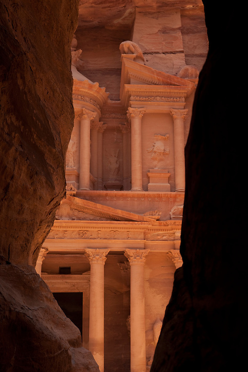 A narrow gorge opens up to the 1st century Nabatean temple now called the Treasury.