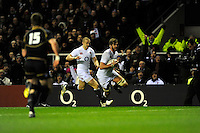 Geoff Parling of England runs in a try during the RBS 6 Nations match between England and Scotland at Twickenham on Saturday 02 February 2013 (Photo by Rob Munro)