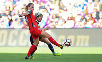 Orlando, FL - Saturday October 14, 2017: Amandine Henry, Denise O'Sullivan during the NWSL Championship match between the North Carolina Courage and the Portland Thorns FC at Orlando City Stadium.