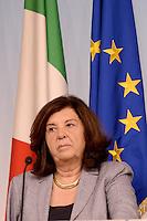 Roma, 15 giugno 2012.Palazzo Chigi.Conferenza stampa del Governo Monti sul decreto di sviluppo e crescita..La Ministro della Giustizia Paola Severino