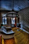 Interior of disused hotel near East German border