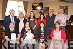 CHRISTENING: Tamzyn De Rohan Truba, Conor Pass Rd, Castlegregory (seated 2nd left) who had her baby Arwen De Rohan christened in St John's church, Tralee last Saturday evening by Fr Gerard Finucane, celebrated after with family in the Imperial hotel, Tralee, seated l-r: Johanna and Tamzyn De Rohan Truba, baby Arwen, Georgia Hannon and Tammy Gray. Back l-r: Vincent Hannon, Marlene Le Vesconte, Jean Brassil, Margaret Hannon, Paul Gray and John Truba.