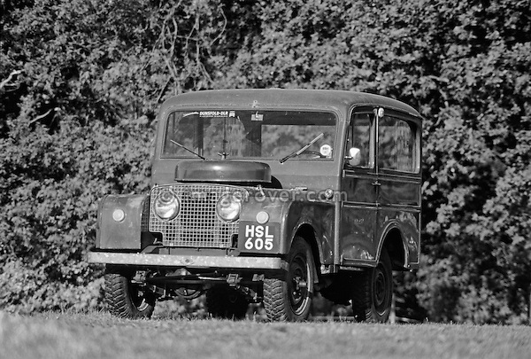 Original and unrestored 1949/50 Land Rover Series 1 80 inch Tickford Station Wagon, engine 1498cc petrol, registration HSL 605, chassis no. L06200409. Dunsfold Collection Open Day 2003. No releases available. Automotive trademarks are the property of the trademark holder, authorization may be needed for some uses. --- Info: This is one of the Tickford 80 inch Station Wagons built 1949/50. This vehicle was sent when new to UNICEF in Finland with one other for delivery of mothers milk in 1950. After 10 years it was fitted with a PTO and had a large air compressor installed in the rear and lived in a quarry blowing up truck tyres. This is most likely the most original unrestored example around.