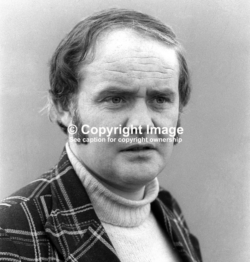 Nicholas Love, community officer, Manorhamilton, Co Leitrim, Rep of Ireland, March, 1978, 1978030100<br /><br />Copyright Image from Victor Patterson, 54 Dorchester Park, <br />Belfast, UK, BT9 6RJ<br /><br />t1: +44 28 9066 1296 (from Rep of Ireland 048 9066 1296)<br />t2: +44 28 9002 2446 (from Rep of Ireland 048 9002 2446)<br />m: +44 7802 353836<br /><br />victorpatterson@me.com<br />www.victorpatterson.com<br /><br />Please see my Terms and Conditions of Use at VICTORPATTERSON.COM. It is IMPORTANT that you familiarise yourself with them.<br /><br />Images used on the Internet must be visibly watermarked i.e. &copy;VICTORPATTERSON.COM within the body of the image and copyright metadata must not be deleted. Images used on the Internet have a size restriction of 4kbs and are chargeable at the then current NUJ rates.<br /><br />This image is only available for the use of the download recipient i.e. television station, newspaper, magazine, book publisher, etc, and must not be passed on to any third party. It is also downloaded on condition that each and every usage is notified within 7 days to victorpatterson@me.com<br /><br />The right of Victor Patterson to be identified as the author is asserted in accordance with The Copyright Designs And Patents Act (1988).