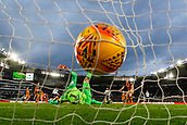 9th February 2019, Pride Park, Derby, England; EFL Championship football, Derby Country versus Hull City;  Martyn Waghorn of Derby County scores past Hull City Goalkeeper David Marshall in the 71st minute to make it 2-0