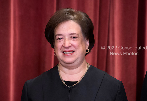 Associate Justice of the Supreme Court Elena Kagan poses during the official Supreme Court group portrait at the Supreme Court on November 30, 2018 in Washington, D.C. <br /> Credit: Kevin Dietsch / Pool via CNP