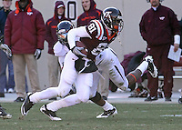 Nov 27, 2010; Charlottesville, VA, USA;  Virginia Tech Hokies wide receiver Jarrett Boykin (81) during the game at Lane Stadium. Virginia Tech won 37-7. Mandatory Credit: Andrew Shurtleff
