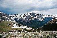 The Ute Trail off Trail Ridge Road in Rocky Mountain National Park, in Colorado, Saturday, July 2, 2011. The elevation at the Ute Trail is 11466 feet...Photo by Matt Nager