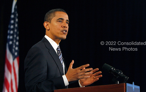 "Chicago, IL - December 11, 2008 -- United States President-elect  Barack Obama speaks at a news conference Thursday December 11, 2008, in Chicago, Illinois. In his remarks, Obama said he was ""appalled and disappointed"" by the revelations this week concerning Illinois Governor Rod Blagojevich's alleged attempts to sell Obama's old United States Senate seat..Credit: Frank Polich - Pool via CNP"