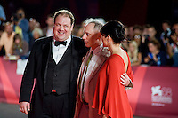(L-R) Actor Jordan Gelber, director Todd Solondz and actress Selma Blair attend the 'Dark Horse' Premiere during the 68th Venice International Film Festival.