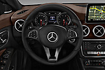 Car pictures of steering wheel view of a 2017 Mercedes Benz CLA-Class CLA250 4 Door Sedan Steering Wheel