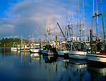 Lincoln County, OR<br /> Fishing boats in harbor at Coos Bay