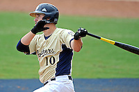 22 April 2012:  FIU first baseman Adam Kirsch (10) bats late in the game as the University of Arkansas Little Rock Trojans defeated the FIU Golden Panthers, 7-6, at University Park Stadium in Miami, Florida.