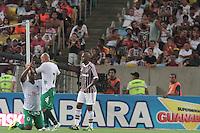 RIO DE JANEIRO, RJ, 15.02.2014 - Gilcimar do Boavista comemora seu gol diante do Fluminense durante o jogo pela oitava rodada do Campeonato Carioca no Maracanã. (Foto. Néstor J. Beremblum / Brazil Photo Press)