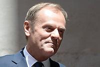 Roma, 20 Giugno 2018<br /> Incontro  a Palazzo Chigi tra il  Presidente del Consiglioe il Presidente del Consiglio europeo, Donald Tusk.