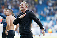 LEEDS, ENGLAND - AUGUST 31: Swansea City manager Steve Cooper celebrates his team's win during the Sky Bet Championship match between Leeds United and Swansea City at Elland Road on August 31, 2019 in Leeds, England. (Photo by Athena Pictures/Getty Images)