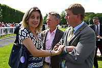 Surprise on the faces of connections of Secret Agent who was declared the winner of The Sharp's Doom Bar Handicap after a Steward Enquiry during Afternoon Racing at Salisbury Racecourse on 13th June 2017