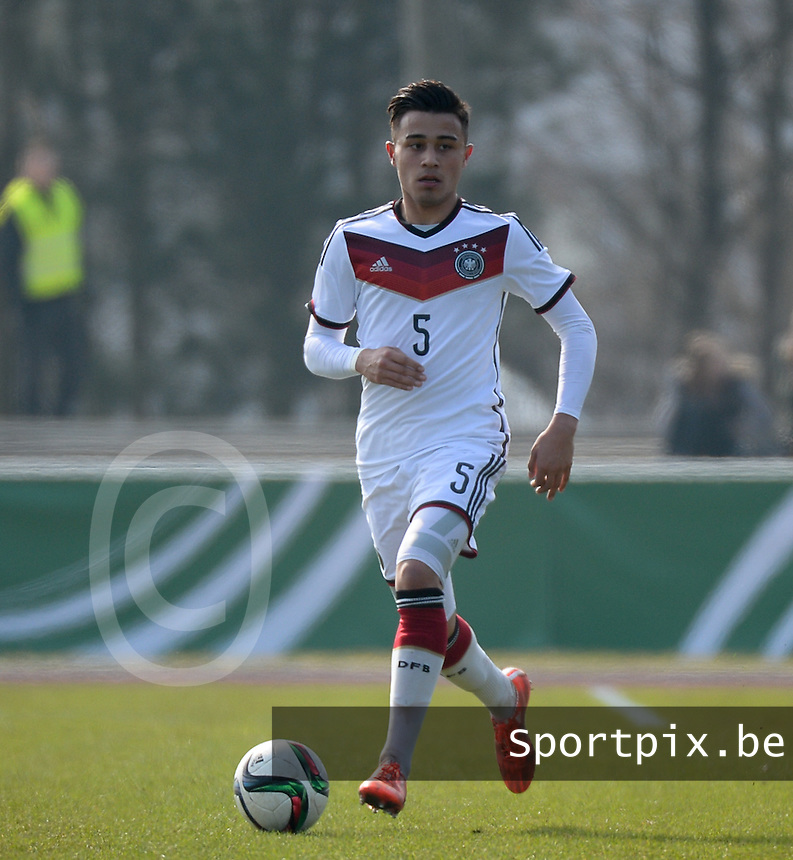 20150323 - MARBURG , GERMANY  : German Erdinc Karakas pictured during the soccer match between Under 17 teams of Germany and Ukraine , on the second matchday in group 8 of the UEFA Elite Round Under 17 at Georg-Gassmann , Marburg Germany . Monday 23 rd  March 2015 . PHOTO DAVID CATRY
