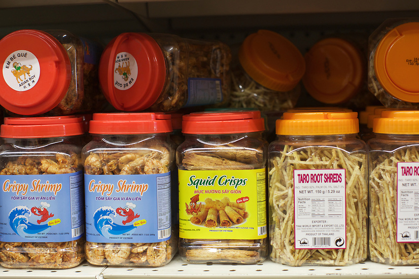 BRONX, NY - May 22, 2017: Chang Li Market in Parkchester sells products and ingredients from South and East Asia, Latin America and the West Indies, offering a taste of home to the immigrants who have settled in the neighborhood.<br /> <br /> Credit: Clay Williams for Edible Bronx.<br /> <br /> &copy; Clay Williams / http://claywilliamsphoto.com