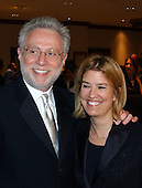 CNN Correspondent Wolf Blitzer and Fox News Correspondent Greta van Sustern pose for photographers as they arrived at the Washington Hilton Hotel for the 2003 White House Correspondents Dinner, Washington, DC, April 26, 2003..Credit: Ron Sachs/CNP