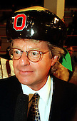 Talk show host Jerry Springer is interviewed on the floor of the 1996 Democratic National Convention in Chicago, Illinois on August 26, 1996..Credit: Ron Sachs / CNP