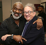 "BeBe Winans and William Ivey Long backstage after a Song preview performance of the Bebe Winans Broadway Bound Musical ""Born For This"" at Feinstein's 54 Below on November 5, 2018 in New York City."