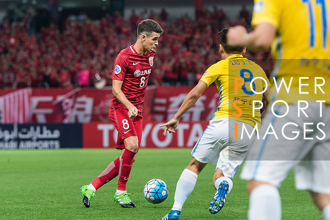 Shanghai FC Forward Oscar Emboaba Junior (L) during the AFC Champions League 2017 Round of 16 match between Shanghai SIPG FC (CHN) vs Jiangsu FC (CHN) at the Shanghai Stadium on 24 May 2017 in Shanghai, China. Photo by Marcio Rodrigo Machado / Power Sport Images