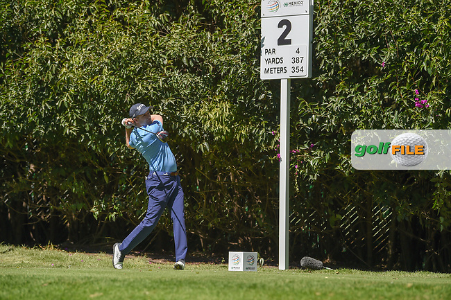 Russell Knox (IRL) watches his tee shot on 2 during round 1 of the World Golf Championships, Mexico, Club De Golf Chapultepec, Mexico City, Mexico. 2/21/2019.<br /> Picture: Golffile | Ken Murray<br /> <br /> <br /> All photo usage must carry mandatory copyright credit (© Golffile | Ken Murray)