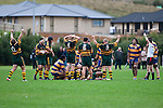 Pukekohe players celebrate their come from behind win at the final whistle. Counties Manukau Premier Club Rugby game between Pukekohe & Patumahoe played at Colin Lawrie Fields Pukekohe on Saturday May 8th 2010..Pukekohe won the game 31 -20 after trailling 10 - 20 at halftime.