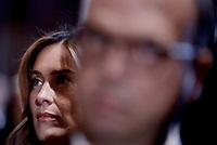 Roma,10 Giugno 2017<br /> Maria Elena Boschi e Angelino Alfano<br /> Papa Francesco in visita al Quirinale