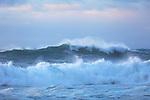 Storm over a rough sea