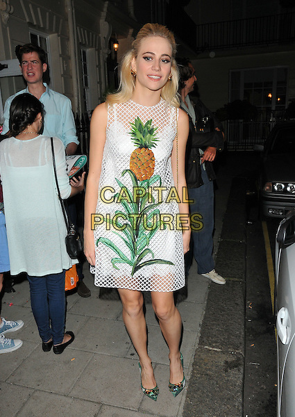 Pixie Lott ( Victoria Louise Lott ) departs from the stage door after the &quot;Breakfast at Tiffany's&quot; evening performance, Theatre Royal Haymarket, Suffolk Street, London, England, UK, on Thursday 11 August 2016.<br /> CAP/CAN<br /> &copy;CAN/Capital Pictures