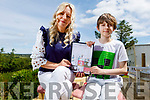 Benjamins Tebbs at home in Athea who has autism and has created a comic book hero called Super Dog with the help of his carer Magedelina Lanedzak