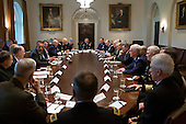 United States President Barack Obama and U.S. Vice President Joe Biden meet with Combatant Commanders and senior military leadership in the Cabinet Room of the White House, May 15, 2012. .Mandatory Credit: Pete Souza - White House via CNP