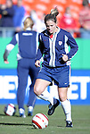 "16 October 2004: Cat Reddick before the game. The United States defeated Mexico 1-0 at Arrowhead Stadium in Kansas City, MO in an women's international friendly soccer game as part of the U.S.'s ""Fan Celebration Tour.""."