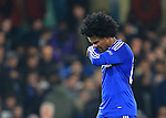 Chelsea's Willian looks on dejected at the final whistle<br /> <br /> - UEFA Champions League - Chelsea vs Paris Saint Germain - Stamford Bridge - London - England - 9th March 2016 - Pic David Klein/Sportimage