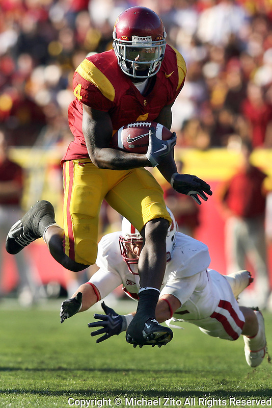 11/14/09 Los Angeles, CA:  USC running back Joe McKnight #4 in action against Stanford University in an NCAA football game played at the Los Angeles Memorial Coliseum. Stanford defeated USC 55-21